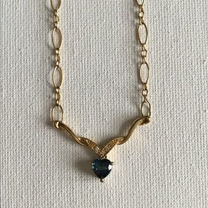 14k Topaz Heart Necklace
